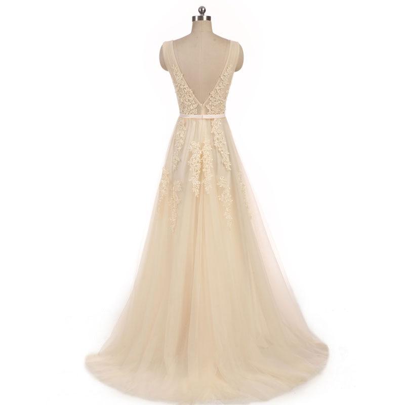 Vestido de novia para boda civil white wedding dress Vestido de Festa appliques zipper A-line dress sweep train dress lace style 1