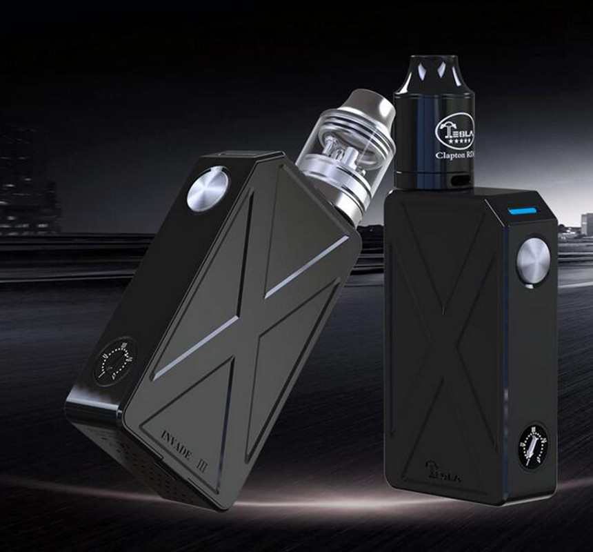 100 Original Tesla Invader III Starter Kit Invader 3 240W Box Mod with Clapton RDA 0