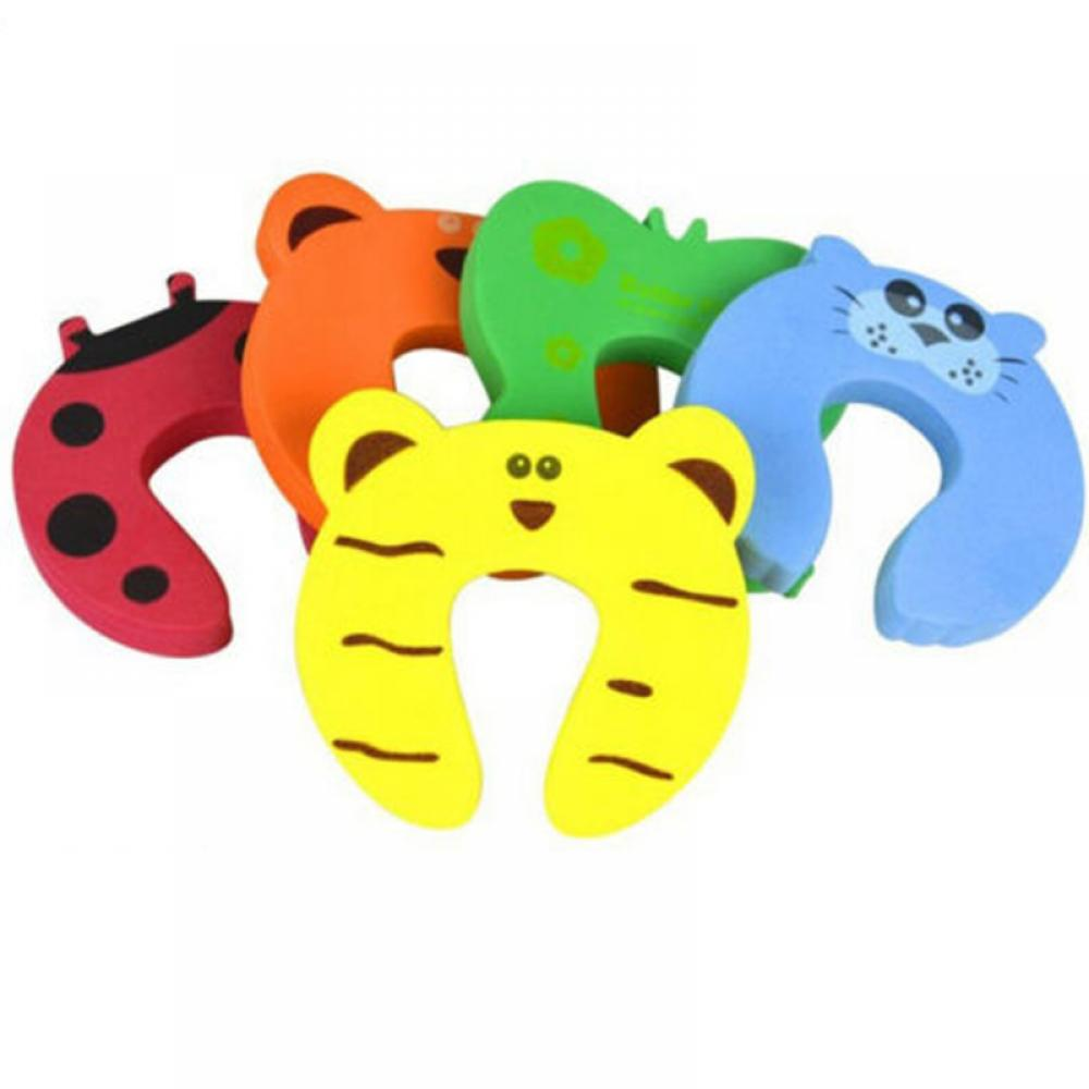 2pcs Kids Baby Cartoon Animal Jammers Stop Edge & Corner for Children Guards Door Stopper Holder lock Safety Finger Protector