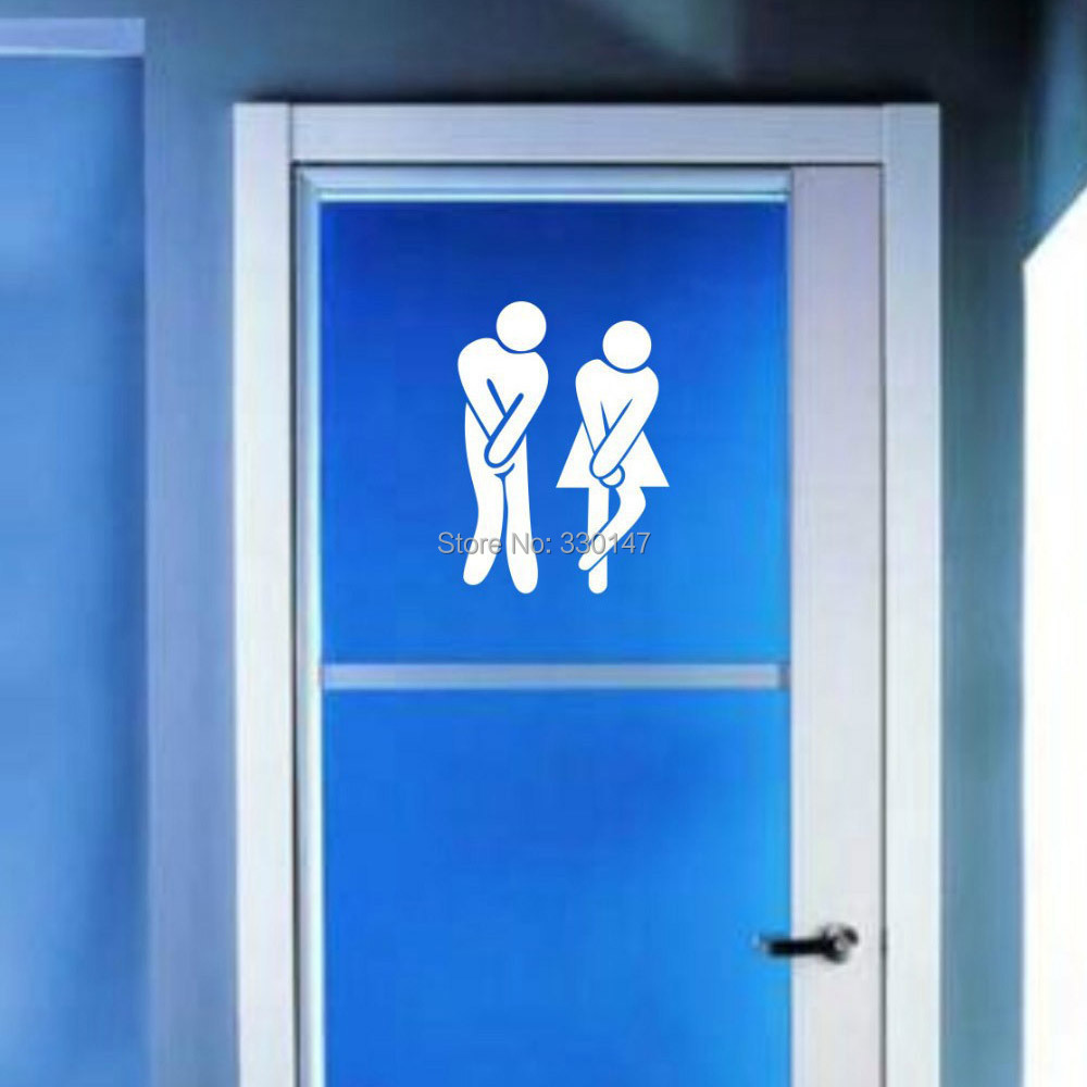 Aliexpress Buy 2pcs Set Toilet Door Sign Wall Stickers Acrylic Mirror Decals DIY For Men And Women Bathroom Office Business Shop Signs 1813cm From