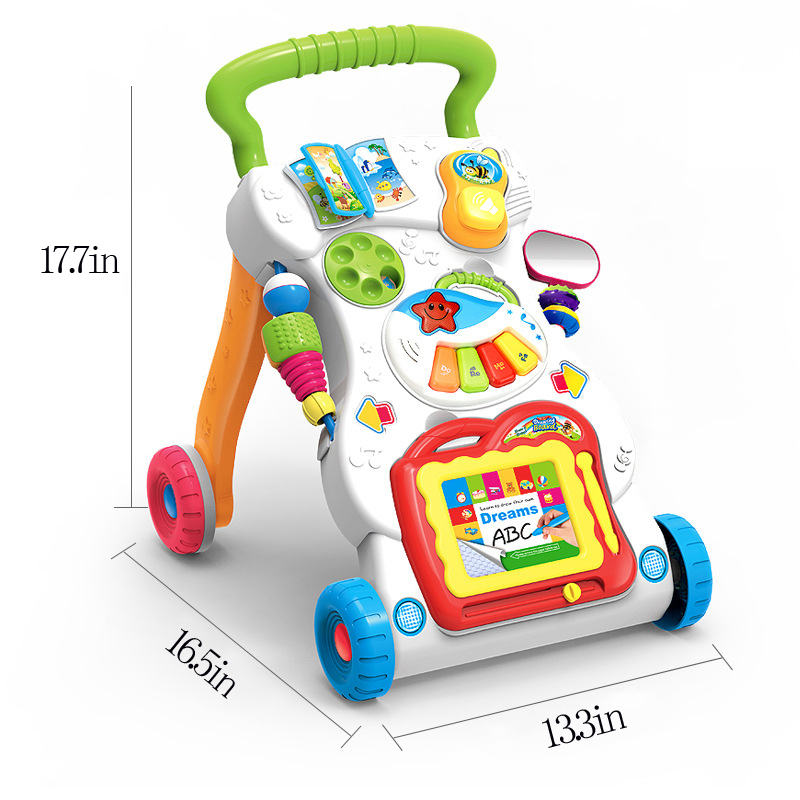 Sit stand learning push toys kids walker baby musical first steps walkers riding outdoor sport balance toys for kids development