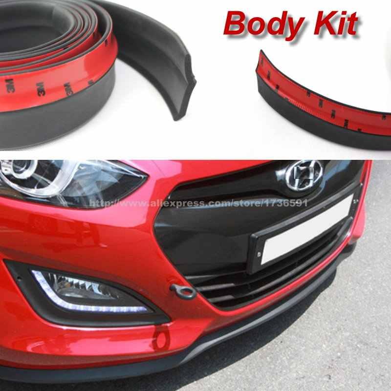 Auto Labbra Paraurti Per Hyundai Elantra Solaris Verna Sonata Tucson IX35 IX25 I30 I20/Tuning Auto/Body Kit striscia/Anteriore Nastri