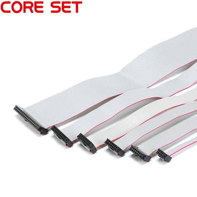 2,54 мм шаг 30 см JTAG ISP AVR скачать кабель провода FC-6/10/14/16/20/40 P Контактный Разъем серый плоский кабель для передачи данных
