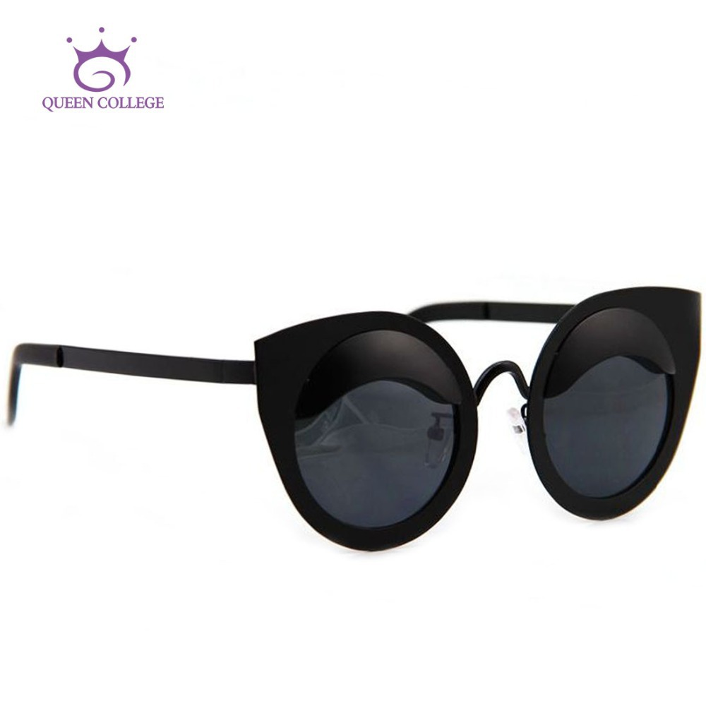 College Sunglasses  aliexpress com queen college brand design retro cat eye