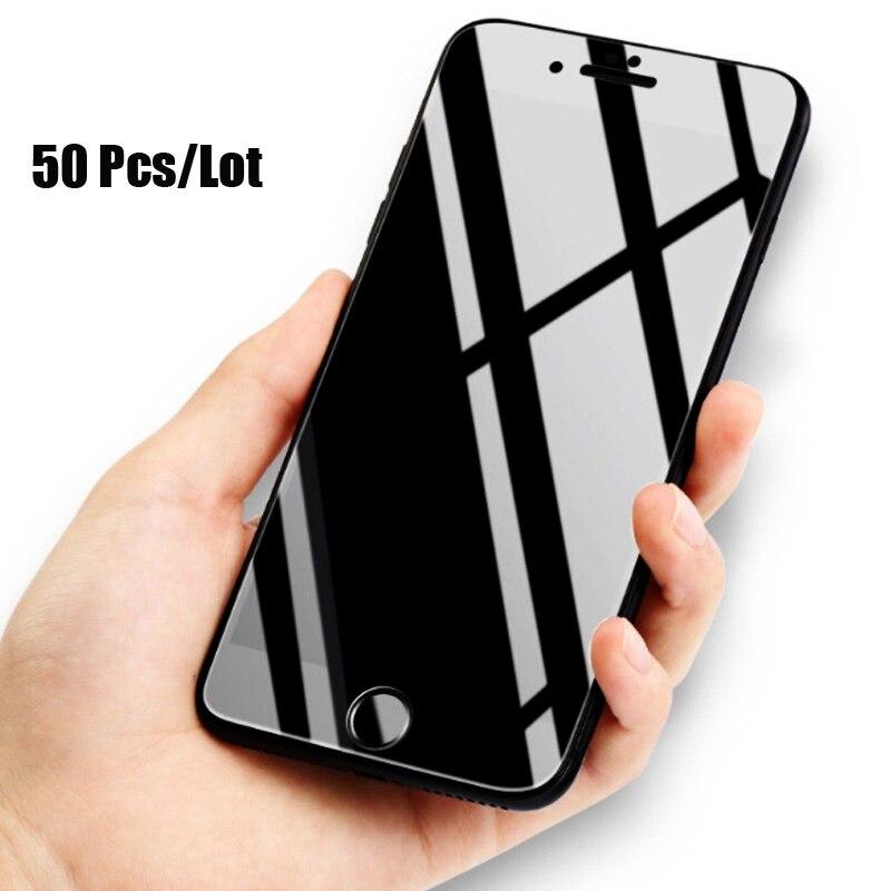 50 Pcs/Lot brillant Fiber de carbone 3D incurvé bord doux verre trempé pour iPhone 6 6 S 7 Plus Film protecteur d'écran pour iPhone 8 Plus-in Protections d'écran de téléphone from Téléphones portables et télécommunications on AliExpress - 11.11_Double 11_Singles' Day 1
