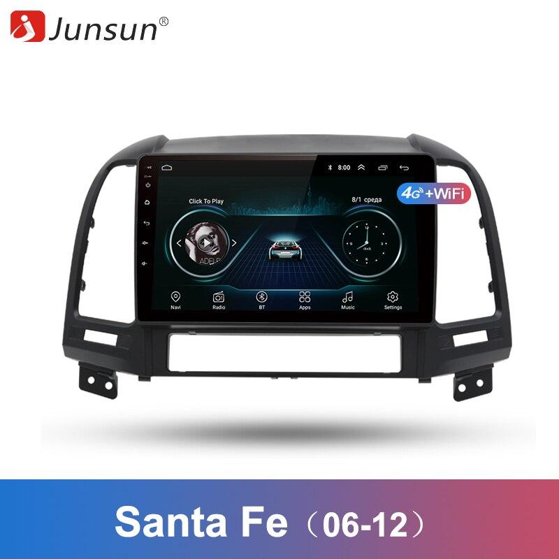 Junsun 2 Din Multimedia Video Player Android 8 1 GPS Navigation Radiofor Hyundai Santa Fe 2