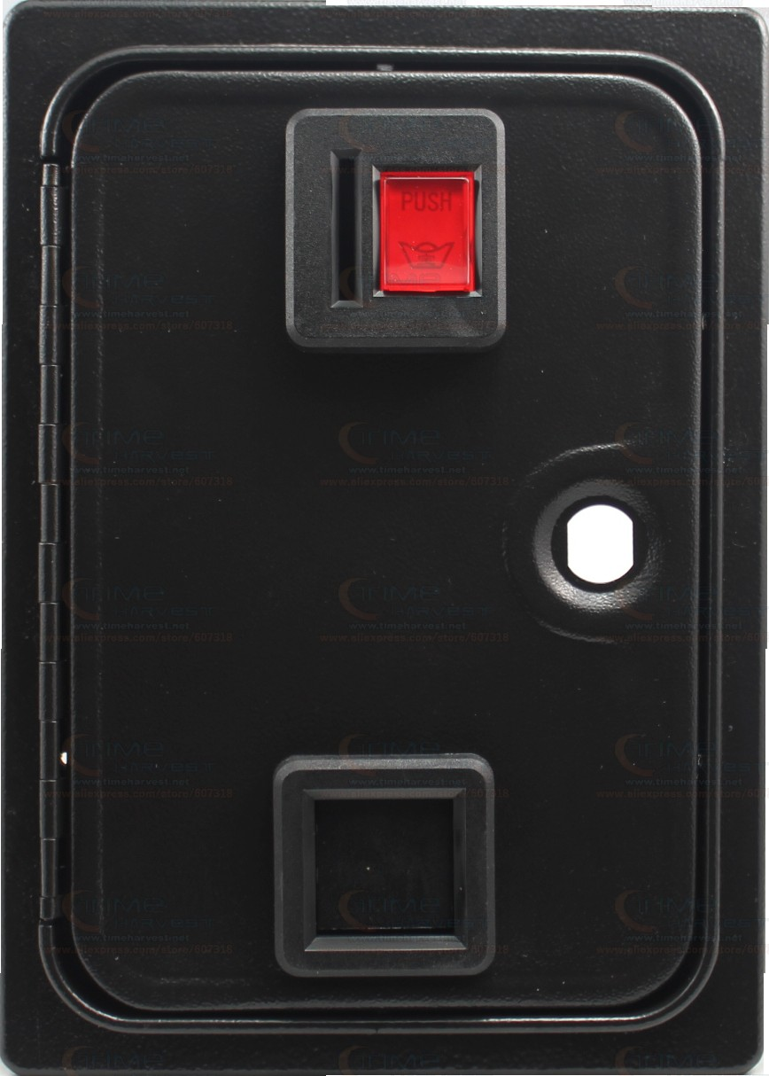 American style coin selector door with coin mech holder microswitch for arcade cabinet casino machine Coin operator game machine arcade game cash access coin door blank jamma mame pinball systems for arcade coin acceptor coin selector coin mech