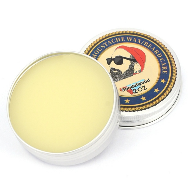 Beard wax 100% Natural Beard Oil Balm Moustache Wax for Styling Beeswax Moisturizing Smoothing Gentlemen Beard 1