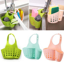 SAE Fortion Portable Basket Home font b Kitchen b font Hanging Drain Basket Bag Bath Storage