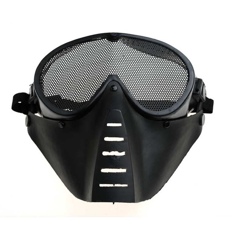 2 colors Paintball Airsoft CS Mask Black Army Green Full Face Eye Nose Wear Protector Safety Guard Mesh Goggles Party Face Mask