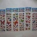 20 unids/lote ventas Calientes Niños recompensa palo de papel Lindo de la historieta pequeña Mariposa Pegatinas 3D pegatinas de burbuja