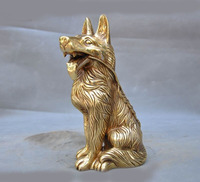 wedding decoration Chinese Brass Staunch Guardian Door Year Zodiac Dog Wealth Money Statue Figurine