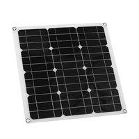 Solar Panel Kit 30W Solar Controller DIY Solar Panel Charger Regulator Single Crystal Silicon Solar Panel System 420 X420mm