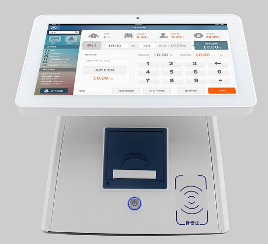 Face Recognition Visitor Machine Android Digital Tablet PC With 12.1 Inch Monitor Of Face Recognition