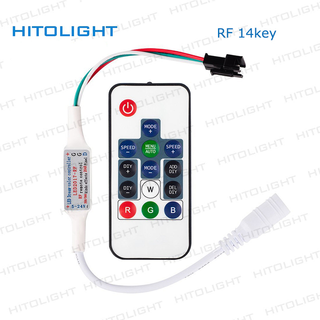 Mini pixel strip light controllers ic strip controller rf14key mini pixel strip light controllers ic strip controller rf14key wireless remote for ws2811 ws2812 1903 16703 mozeypictures Image collections