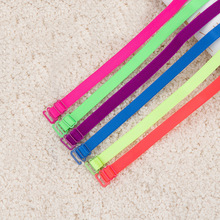 1CM Fashion Candy Color Bra Straps Fluorescent Shoulder Straps Summer Girl Cute Underwear Straps 5pairs lot