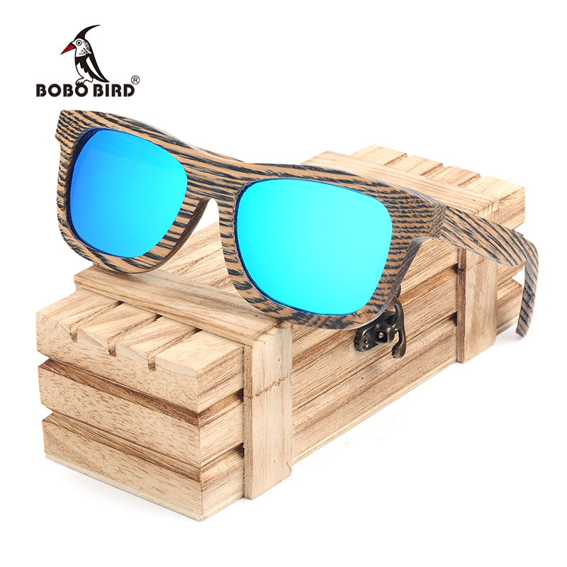 115b76ba87f BOBO BIRD Stripe Men s Wood Sunglasses Women Polarized Sun Glasses with Wooden  Gift Box Steampunk C-AG016 Dropshipping OEM