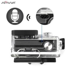 Image 4 - Чехол SOONSUN с каркасным корпусом, боковым открытием, защитный чехол + внешний кабель для микрофона для GoPro Hero 3 3 + 4, аксессуары для Go Pro