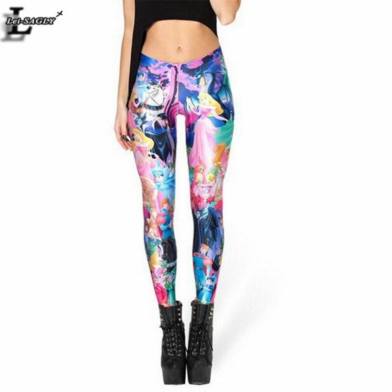 New Design Sleeping Beauty Princess Print   Legging   Interest Gothic Creative Punk Rock Fitness Women Fashion Elastic Pants BL-471