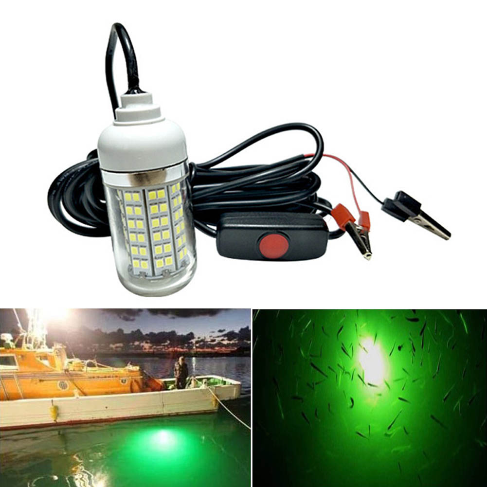 LED Underwater Light Lamp 12V Waterproof For Submersible Night Fishing Boat Outdoor Lighting CLH@8 ...
