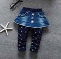 Primavera Do Bebê Meninas calças de Brim Macias Calças Moda Calças das Crianças Calças de jeans Infantil Denim Macio