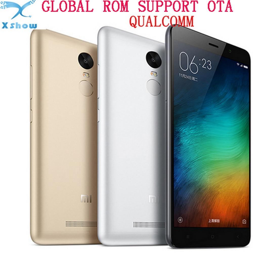 Цена за БЕСПЛАТНАЯ доставка в Исходном Xiaomi Редми Примечание 3 Pro Snapdragon 650 Гекса ядро 5.5 ''2 ГБ RAM 16 ГБ MIUI ROM 4000 мАч google play 8