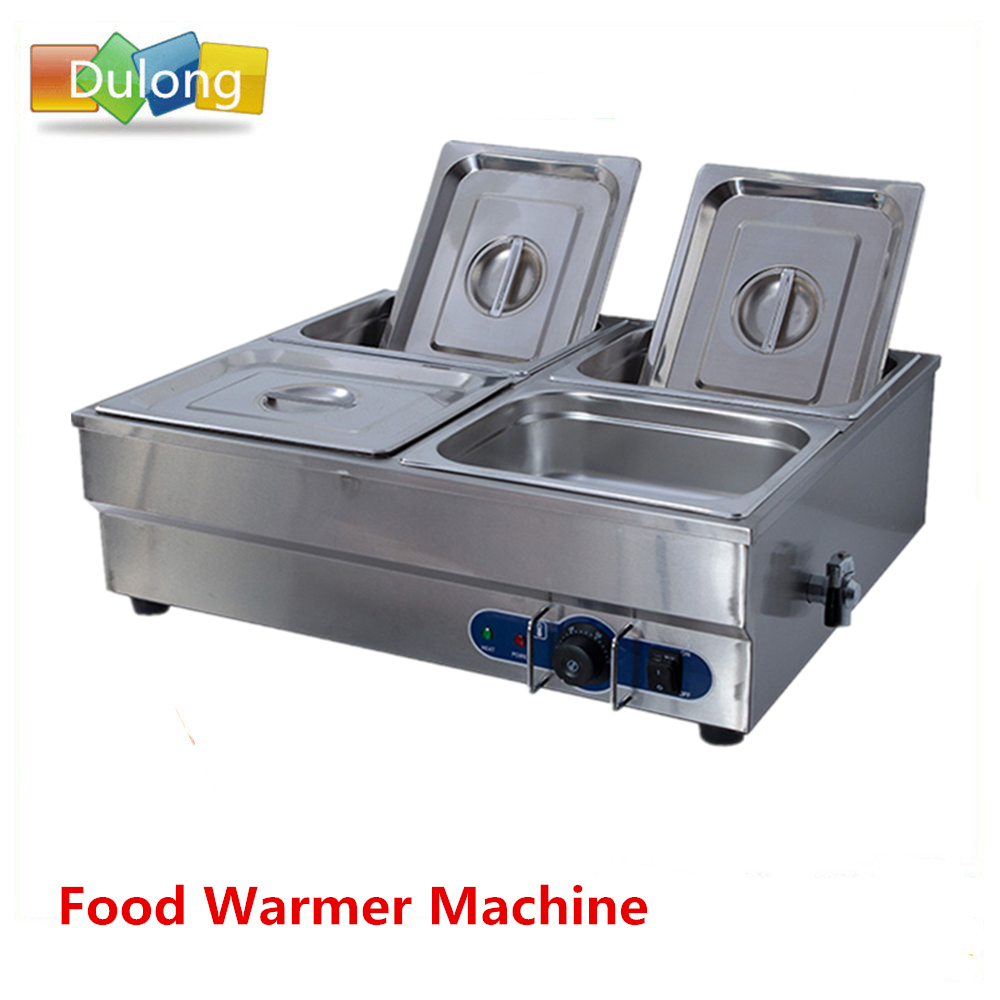 Bain Marie Commercial Restaurant Use Food Warmer Equipment Fast Food Container Stainless Steel Soup Pool fast food leisure fast food equipment stainless steel gas fryer 3l spanish churro maker machine