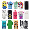 3D Cute Cartoon Cases Cover Huawei Ascend P8 Lite P8 mini Bunny Rabbit Rubber Soft Silicone Case Huawei P8 Lite Phone Cases Skin