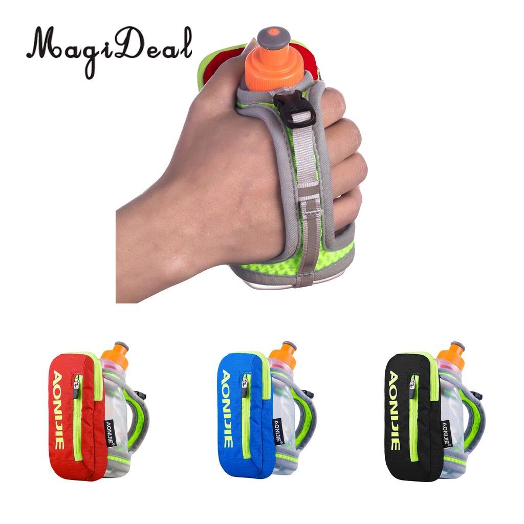 MagiDeal Waterproof Water Bottle Holder Durable Nylon Bag Hand Hold Bottle Carrier with 250ml Bottle