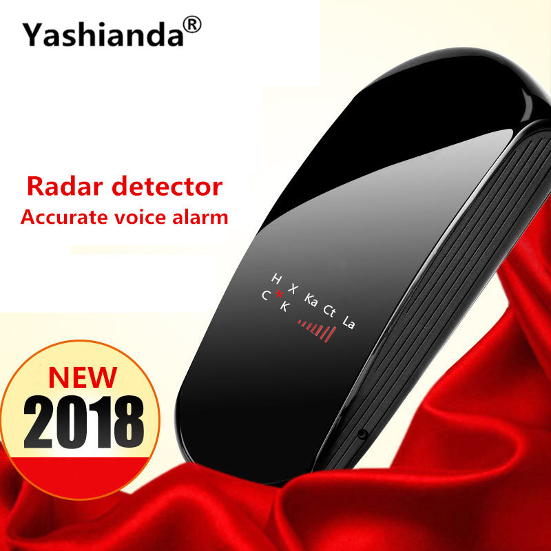 Yashianda Universal V3 Vehicle Auto Car Radar Detector LED Display Laser Anti Radar Speed Detector Support Russian English