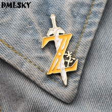 DMLSKY Cartoon Funny Enamel Pin Badge Backpack Clothes Brooches Tie Collar Pins Jewelry M3227