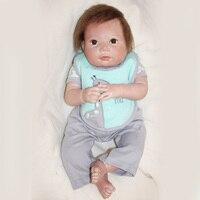 Силиконовые куклы Bebe Reborn Boneca 20 дюймов новорожденных реалистичные детские возрождается ребенка перед сном раннего образования игрушки YDK 67R1