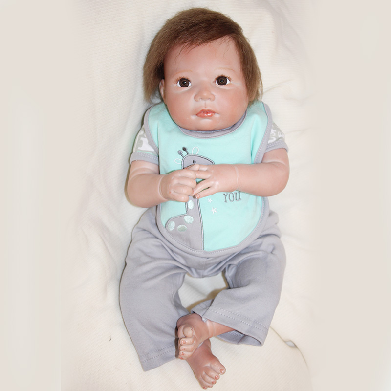 Silicone Doll Bebe Reborn Boneca 20 Inch Newborn Lifelike Baby Reborn Child Bedtime Early Education Toys YDK-67R1 Brinquedos Toy baby toys early developmental plaything brinquedos bebe eletronicos action animis free shipping 366c