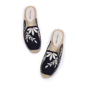 Image 4 - Tienda Soludos Slippers Women New Arrival Hemp Rubber Cotton Fabric Mixed Colors Summer Pantufas Zapatos De Mujer Slides