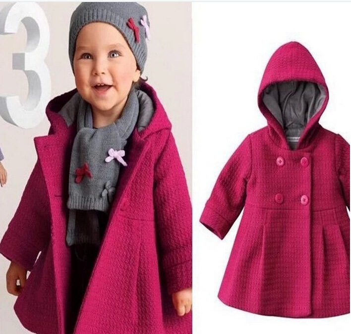 ФОТО 2016 New Baby Girls Bebe Winter Autumn Cotton Coat Windbreaker Hoodie Outerwear Snowsuit Outfit Clothes 1-3 Years Clothing Gift