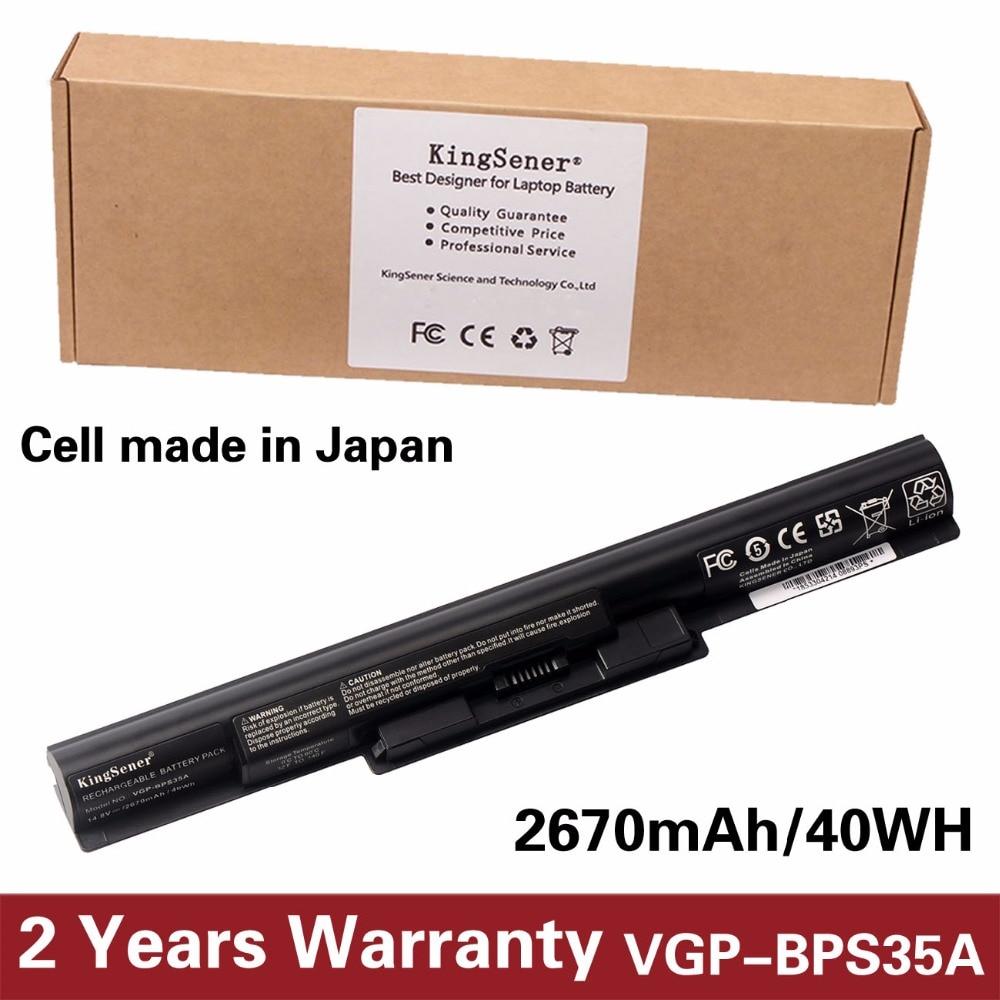 цена на KingSener Japanese Cell New VGP-BPS35A Battery For SONY Vaio Fit 14E 15E SVF1521A2E SVF15217SC SVF14215SC SVF15218SC SVF152A29M