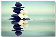 Zen Stone Garden Rocks Spa Room SILK POSTER Decorative Wall painting 24x36inch(China)