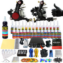 Solong Tattoo Complete Tattoo Kit for Beginner Starter 2 Pro Machine Guns 28 Inks Power Supply Needle Grips Tips TK204-8