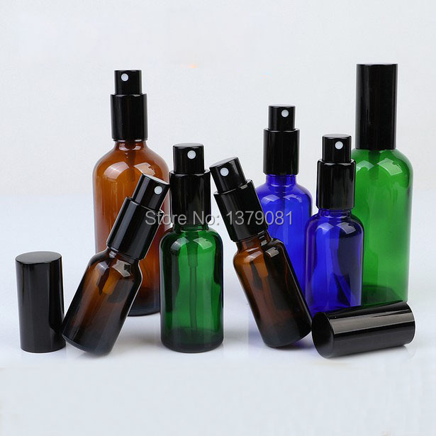 5ml 10ml 15ml 20ml 30ml 50ml 100ml Empty New Glass Spray Bottle with Black Fine Mist