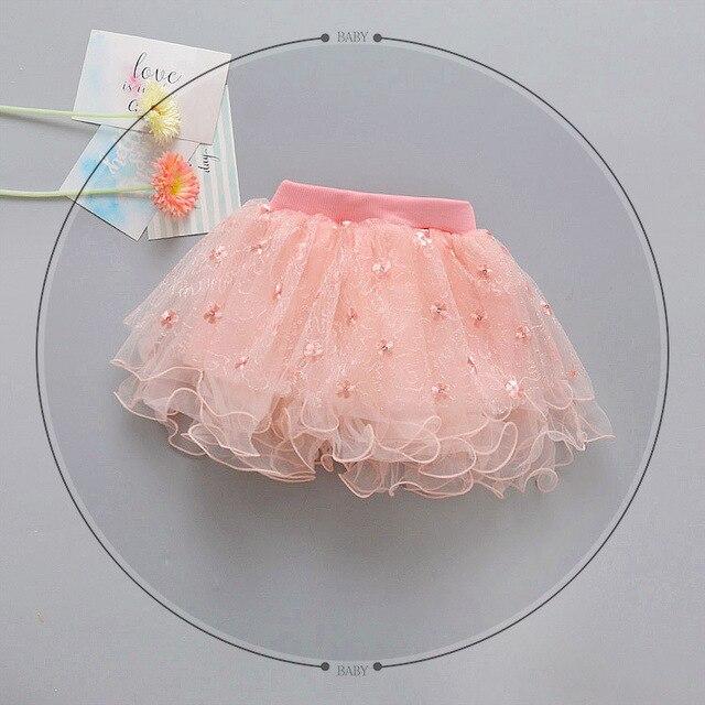 3ab7fdfa4 2019 جديد الربيع الصيف الاطفال ملابس الطفل الفتيات تول تنورة عيد ميلاد حزب  توتو تنورة