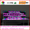 Interior full color display LED 1000X360mm tela de rolagem de texto LEVOU Publicidade Display LED Placa do Sinal Programável USB