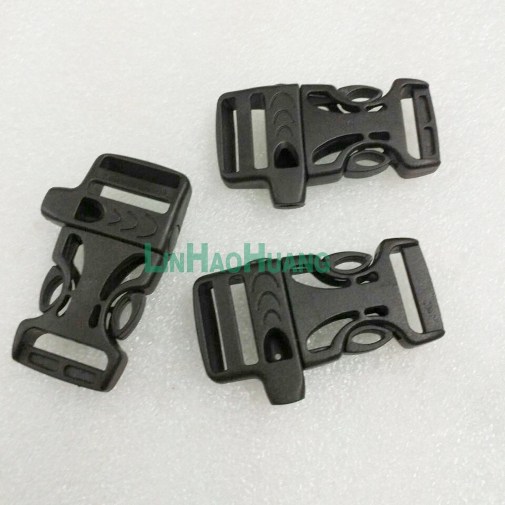 Whole 30 Pcs Plastic Buckles Black