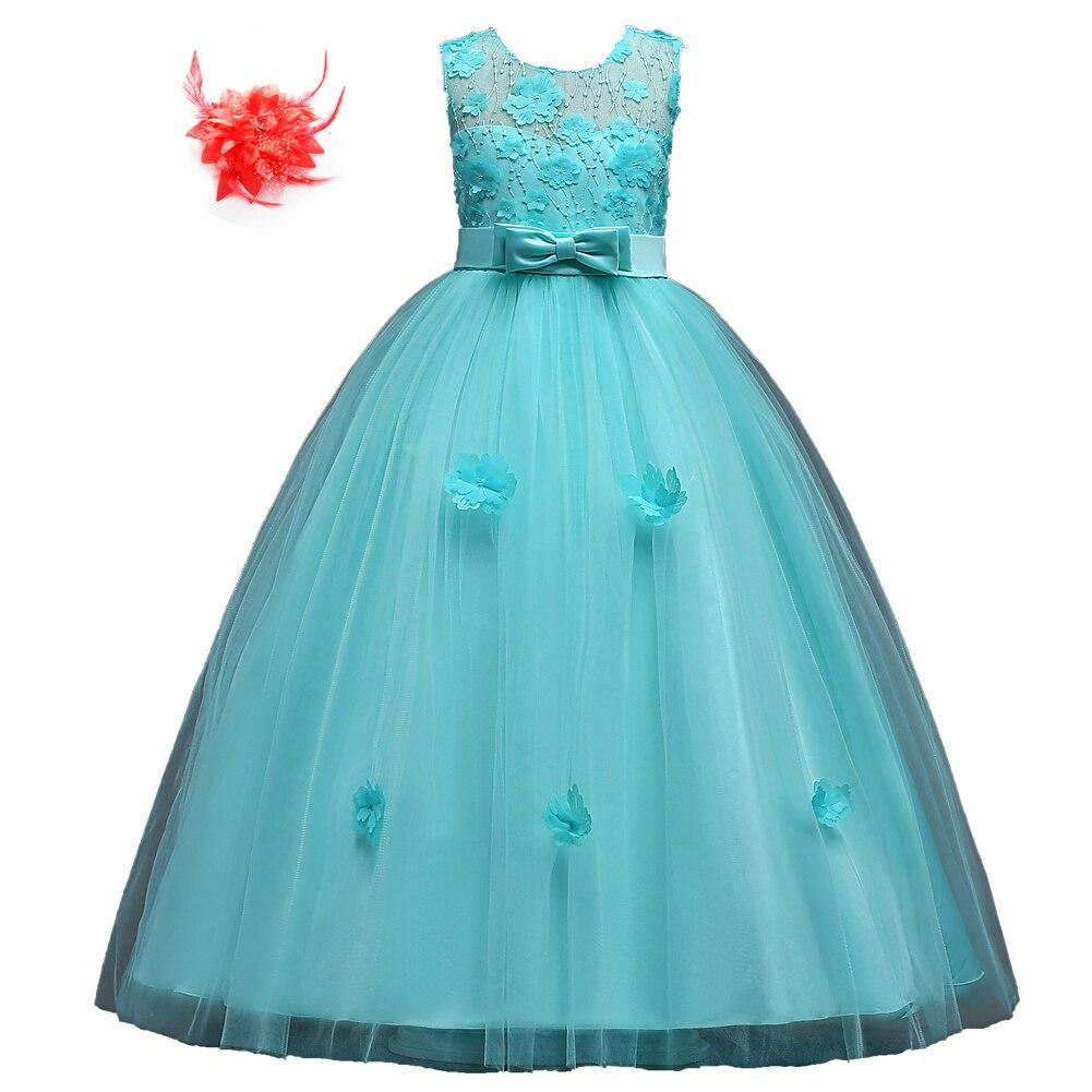 elegante blume mädchen formale kleider abend tragen ballkleider für kinder  rot blau navy mint green prom kleid party für mädchen kinder