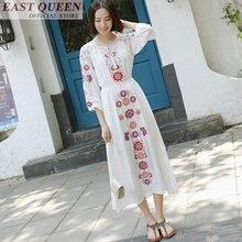 Hippie vestiti hippie del costume delle donne di bianco vestito dalla  spiaggia messicano vestiti di vestito 95cfc055080