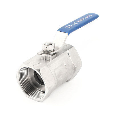 ФОТО DN40 45mm Female Thread Rotary Lever Stainless Steel Ball Valve