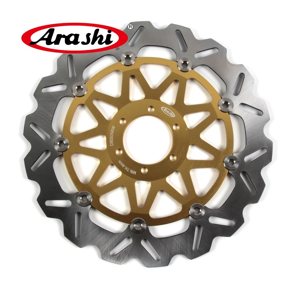 ARASHI For MOTO GUZZI BREVA 750 2003-2007 CNC Front Brake Rotors Brake Disc 2003 2004 2005 2006 2007 NEVADA 750 03-07 V7 Classic arashi 1pcs cnc floating front brake disc brake rotors for cagiva mito 525 125 2006 2007 mito 125 1991 1992 1993 1994