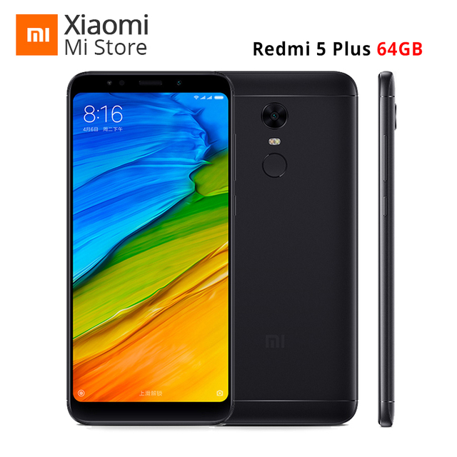 "Global ROM Xiaomi Redmi 5 Plus 4GB RAM 64GB ROM SmartPhone 5.99"" 18:9 Full Screen Snapdragon 625 Octa Core 4000mAh MIUI 9 OTA"