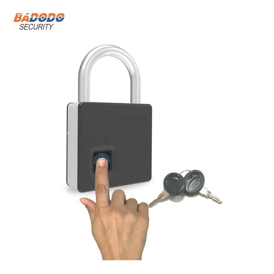 Waterproof heavy duty Mini portable smart intelligent Fingerprint Lock padlock Anti Theft home office security access