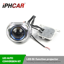 Бесплатная Доставка IPHCAR Супер Яркость Bi-xenon LED Bi-функция Объектив Высокого Ближнего света для Фар Автомобиля Retofit