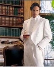 White Mens Wedding Suits Best Man Suit Groom Tuxedos (Jacket+Pants+Vest